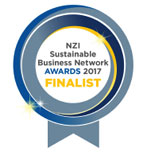 NZ Sustainable Business Network Awards 2017 Finalist Badge